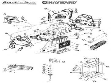 Recambios robot limpiafondos eléctrico Tiger Shark Hayward