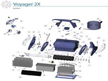 Recambios robot limpiafondos eléctrico Voyager 2X Zodiac