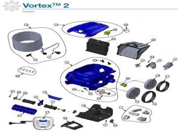 Recambios Robot limpiafondos Zodiac RV4200  Vortex 2 wd