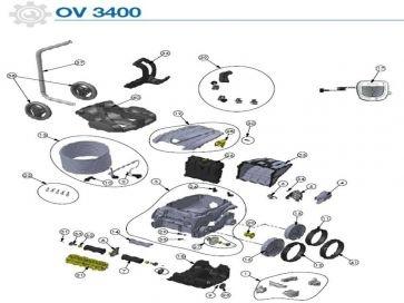 Robot limpiafondos eléctrico OV 3400 Zodiac recambios