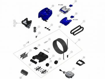 Robot limpiafondos eléctrico Tornax  OT 2100 Zodiac Recambios