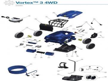 Robot limpiafondos eléctrico Vortex 3 4WD Zodiac recambios