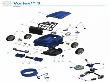 Robot limpiafondos eléctrico Vortex 3 Zodiac recambios