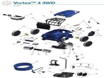 Robot limpiafondos eléctrico Vortex 4 4WD Zodiac recambios