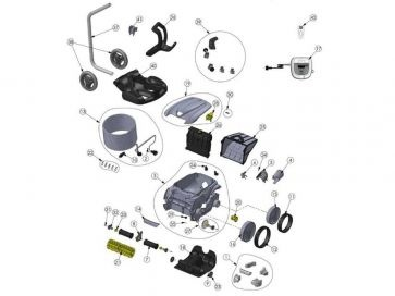 Robot limpiafondos Zodiac OV 3500 Recambios