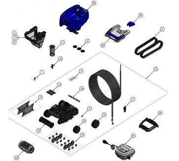 Robot limpiafondos Zodiac Tornax Pro RG 3200 Genius Recambios