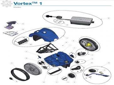 Robot limpiafondos Zodiac Vortex 1 Recambios