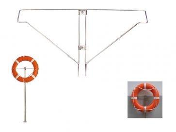 Soporte para aro salvavidas de piscina en acero inoxidable Aisi 304L