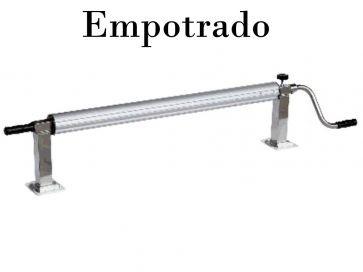 Tubo enrollador telescópicos manual de piscina diámetro 80 mm