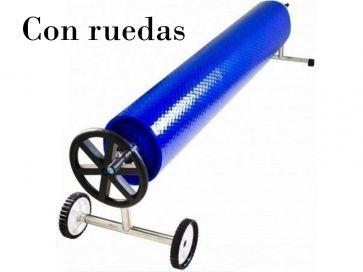Tubo enrollador telescópicos manual de piscina diámetro 92, 100 y 112 mm
