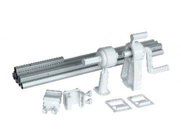 Tubo enrollador telescópico manual para piscina elevada
