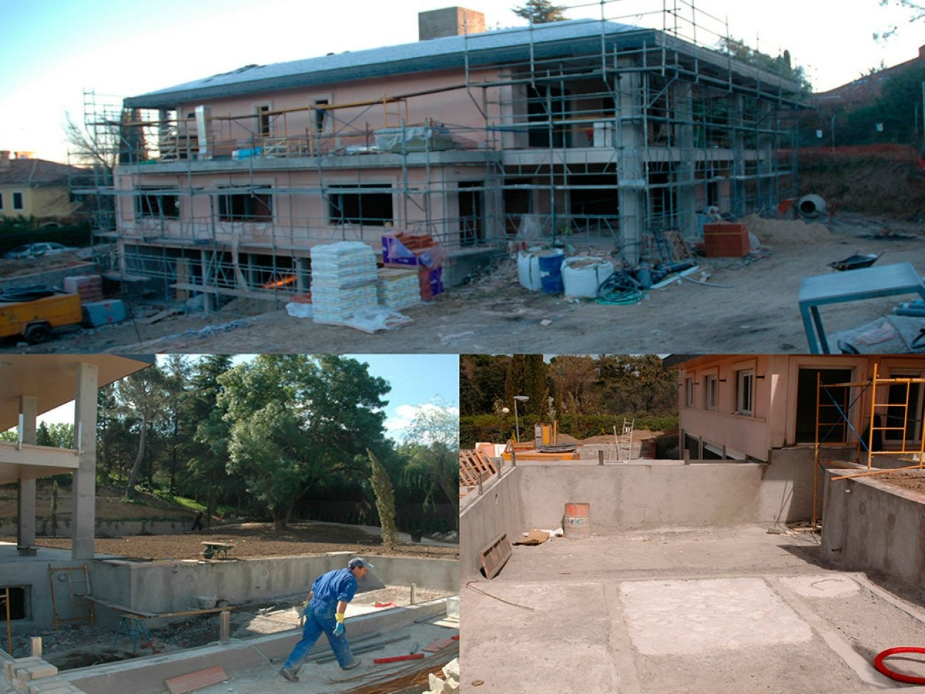 Construcci n de piscina desbordante infinity en madrid for Construccion de piscinas en madrid